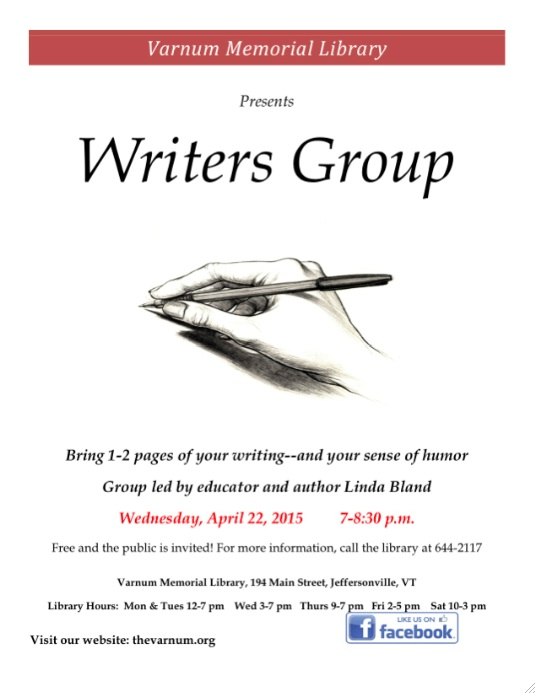 VML Writers Group Poster 04102015